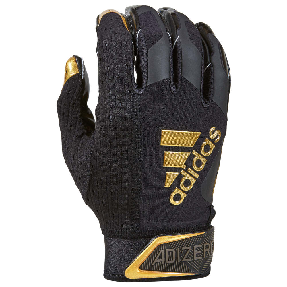 アディダス adidas メンズ アメリカンフットボール レシーバーグローブ グローブ【adiZero 9.0 Receiver Gloves】Black/Metallic Gold