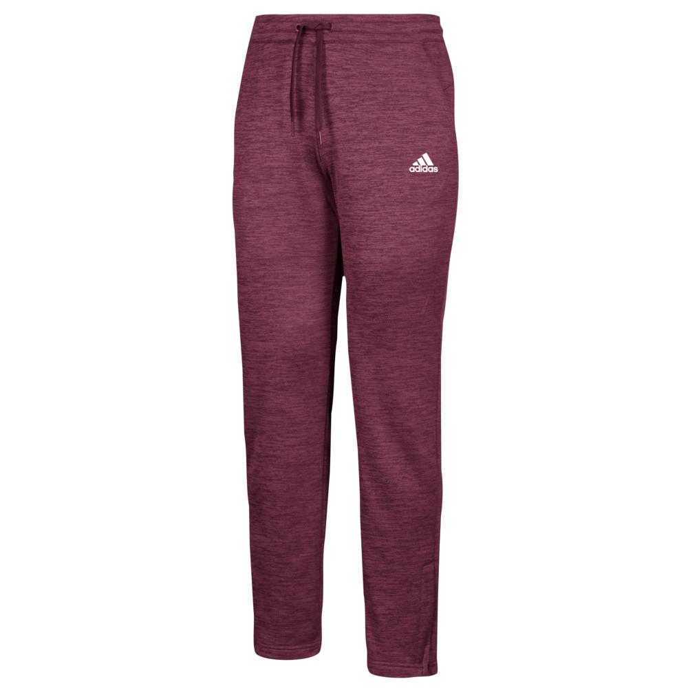アディダス adidas レディース フィットネス・トレーニング ボトムス・パンツ【Team Issue Fleece Pants】Maroon/White