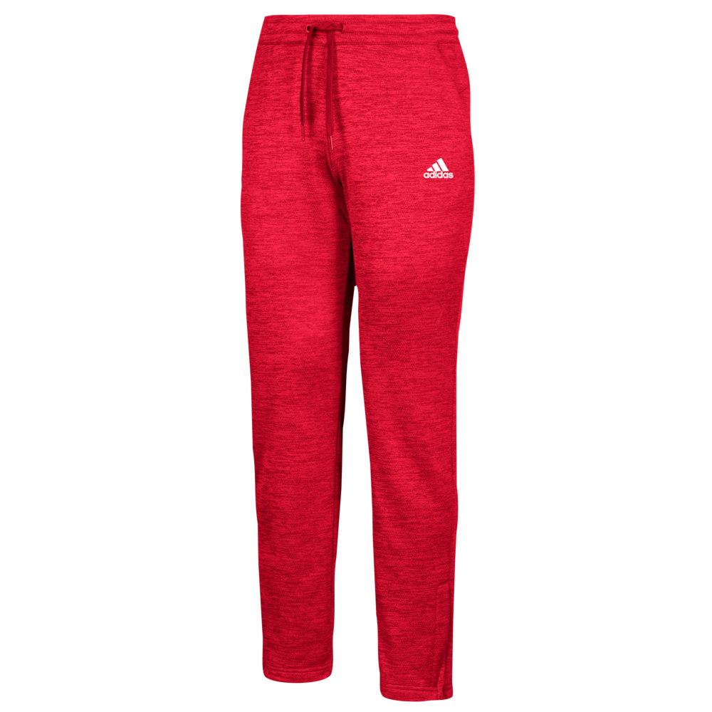 アディダス adidas レディース フィットネス・トレーニング ボトムス・パンツ【Team Issue Fleece Pants】Power Red/White