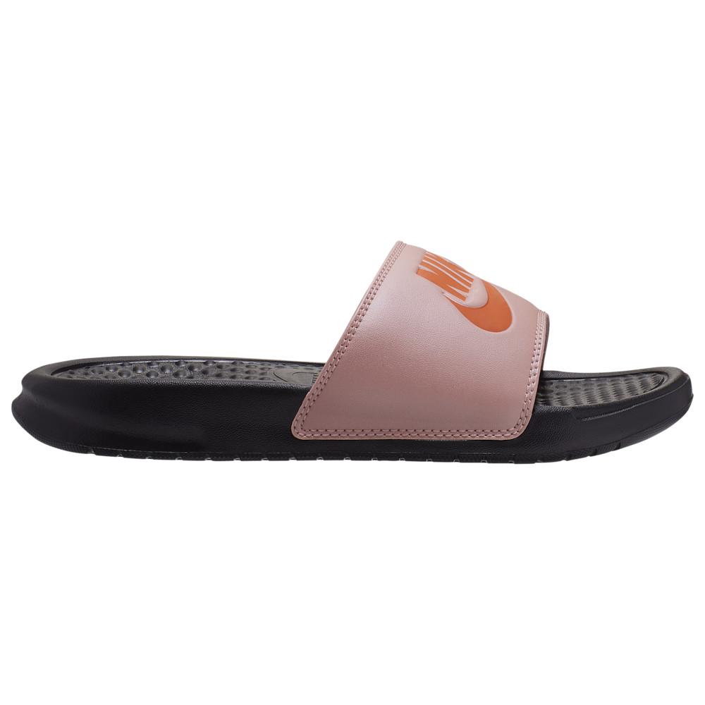 ナイキ Nike レディース サンダル・ミュール シューズ・靴【Benassi JDI Slide】Black/Starfish Coral/Stardust