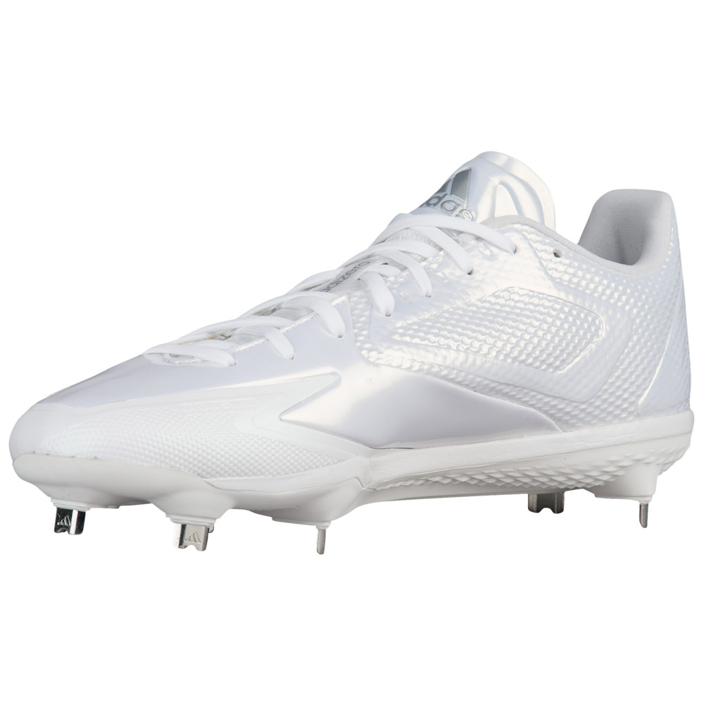 アディダス adidas メンズ 野球 シューズ・靴【adiZero Afterburner 3】White/Silver Metallic/Silver Metallic