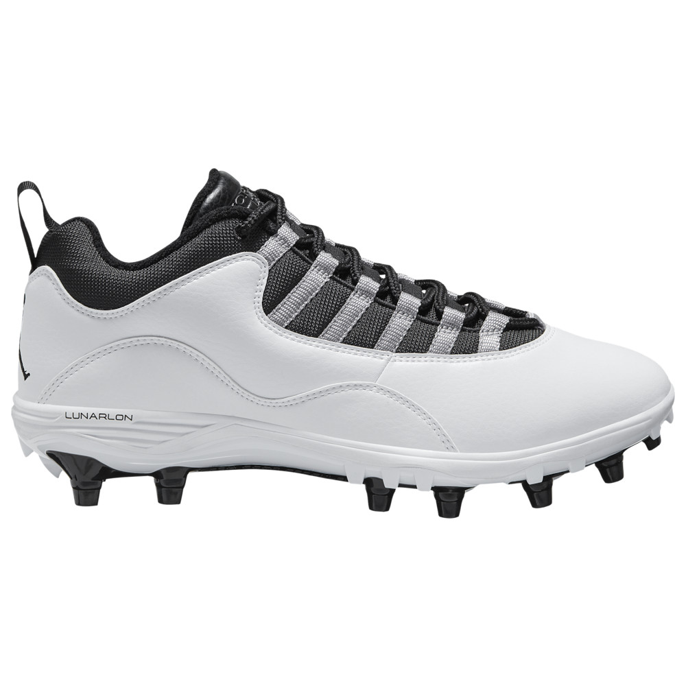 ナイキ ジョーダン Jordan メンズ アメリカンフットボール シューズ・靴【Retro 10 TD Low】White/Black/Light Steel Grey