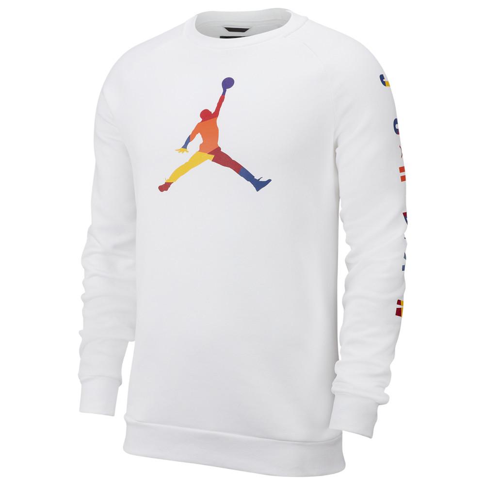 ナイキ ジョーダン Jordan メンズ バスケットボール トップス【Sport DNA HBR Fleece Crew】White