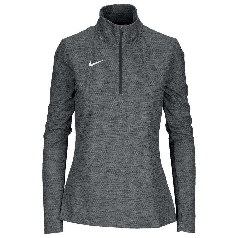 ナイキ Nike レディース トップス ハーフジップ【Team Authentic Dry 1/2 Zip Top】Anthracite/White