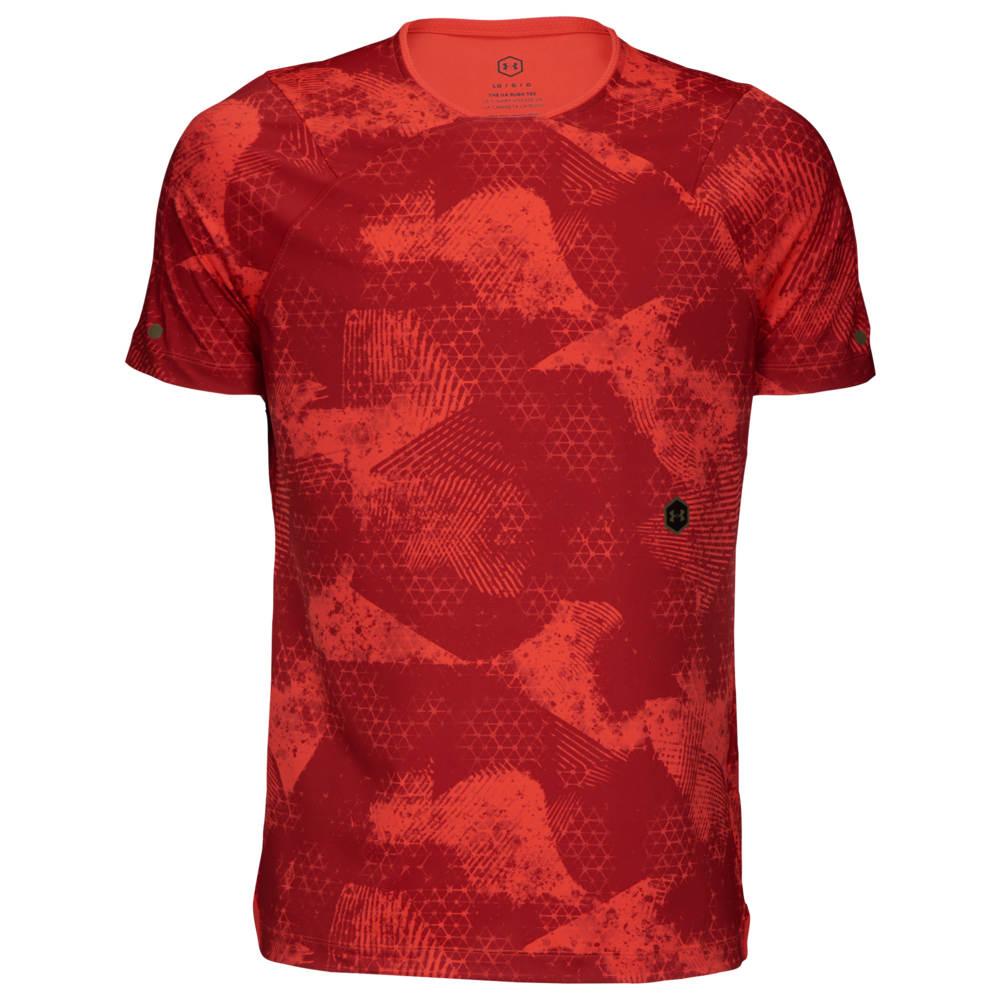 アンダーアーマー Under Armour メンズ フィットネス・トレーニング Tシャツ トップス【Rush Fitted T-Shirt】Martion Red/Black