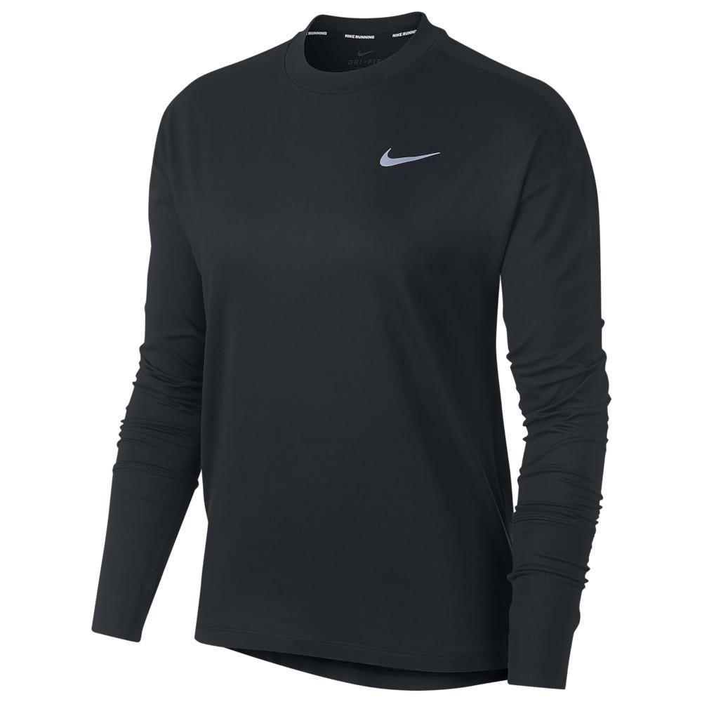 ナイキ Nike レディース フィットネス・トレーニング トップス【Element Crew Top】Black/Reflective Silver