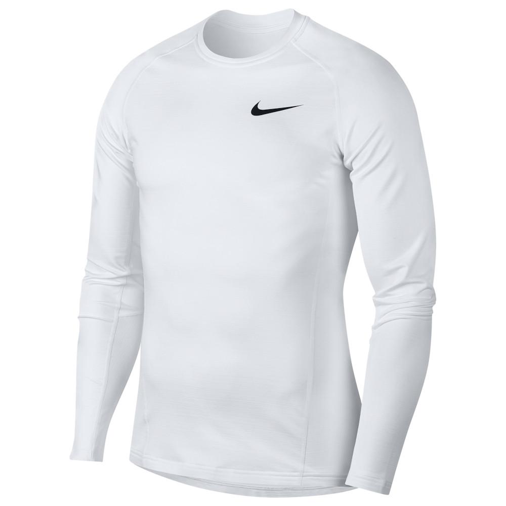 ナイキ Nike メンズ フィットネス・トレーニング トップス【Pro Therma L/S Top】White/Black
