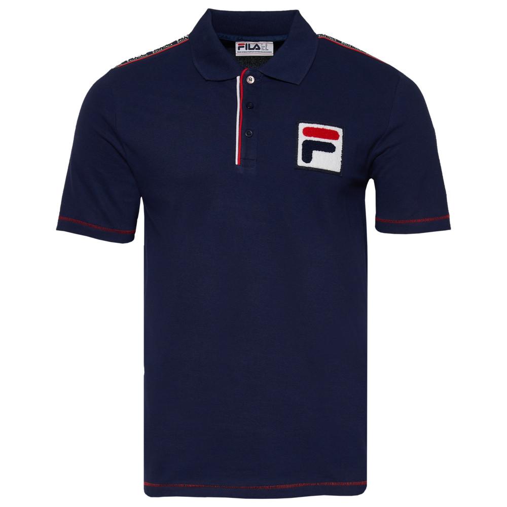 フィラ Fila メンズ ポロシャツ トップス【Biella Italia Polo】Navy/Red/White