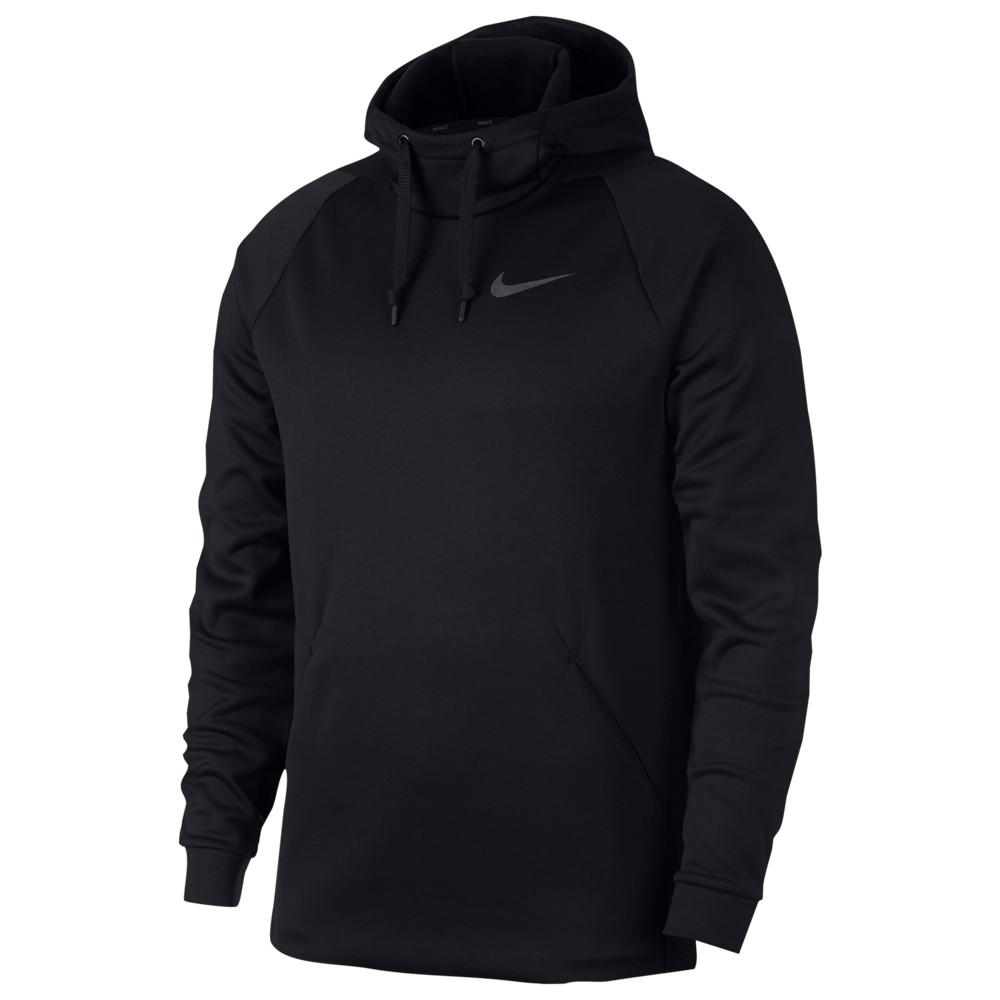 ナイキ Nike メンズ フィットネス・トレーニング パーカー トップス【Therma Fleece Hoodie】Black/Dark Grey