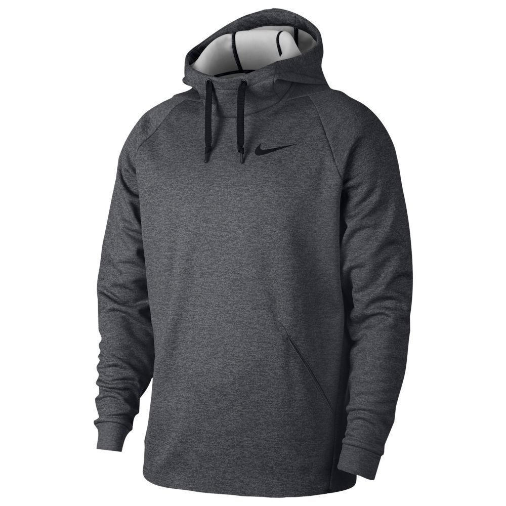 ナイキ Nike メンズ フィットネス・トレーニング パーカー トップス【Therma Fleece Hoodie】Charcoal Heather/Black