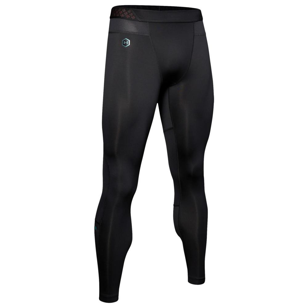アンダーアーマー Under Armour メンズ フィットネス・トレーニング タイツ・スパッツ ボトムス・パンツ【ColdGear Rush Leggings】Black/Black