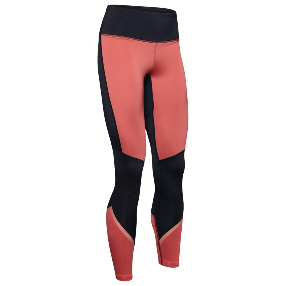 アンダーアーマー Under Armour レディース フィットネス・トレーニング スパッツ・レギンス ボトムス・パンツ【ColdGear Armour Colorblock Tights】Fractal Pink
