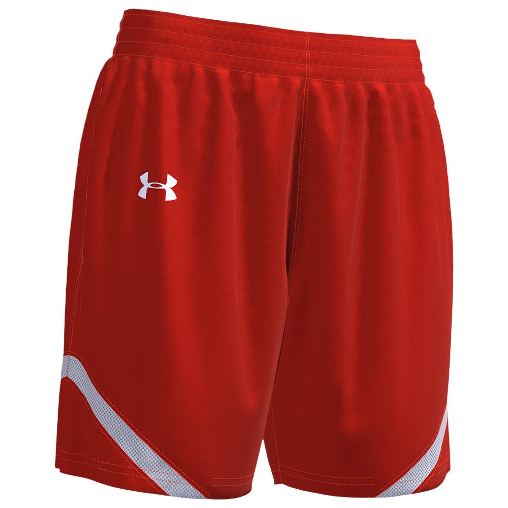 アンダーアーマー Under Armour Team レディース バスケットボール ショートパンツ ボトムス・パンツ【Team Clutch 2 Reversible Shorts】Orange/White