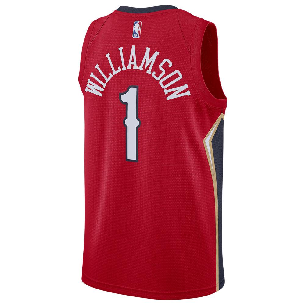 ナイキ Nike メンズ バスケットボール トップス【NBA Swingman Jersey】NBA/New Orleans Pelicans/Zion Williamson/Univeristy Red