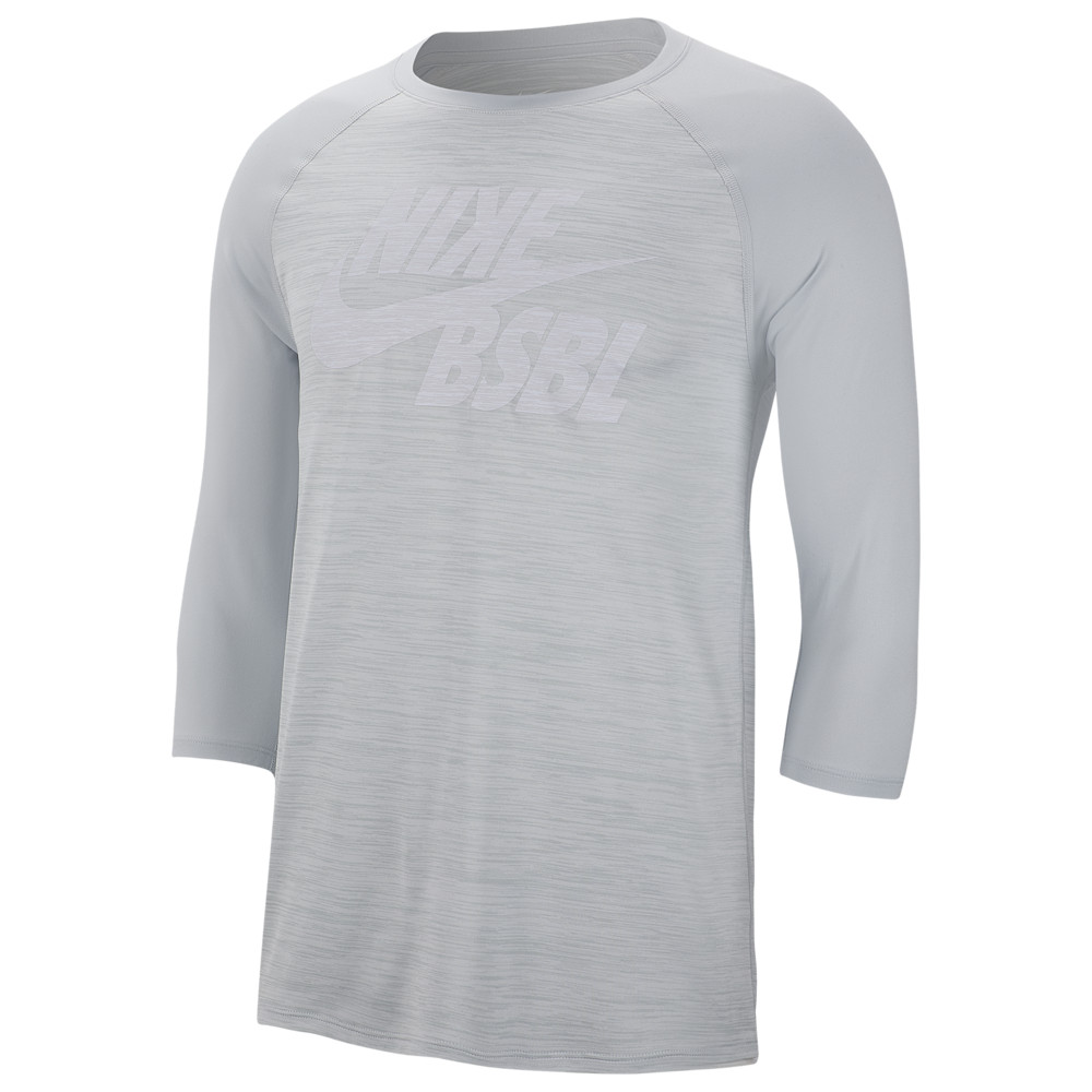 ナイキ Nike メンズ 野球 ラグラン Tシャツ トップス【Velocity Legend 3/4 Raglan T-Shirt】Pure Platinum