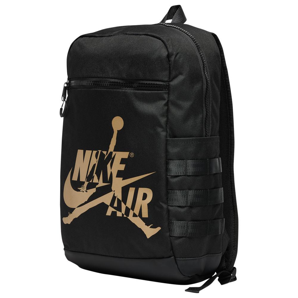 ナイキ ジョーダン Jordan ユニセックス バックパック・リュック バッグ【Jumpman Classic Backpack】Black/Gold/White