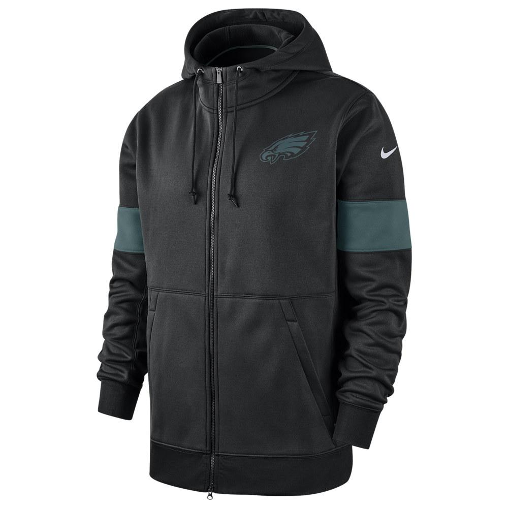 ナイキ Nike メンズ アメリカンフットボール トップス【NFL Therma Full-Zip Hoodie】NFL/Philadelphia Eagles/Black