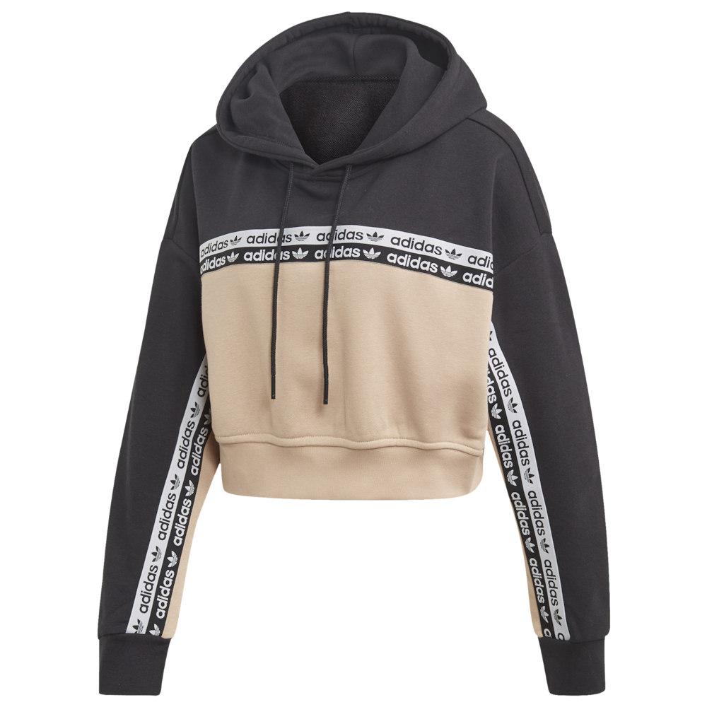 アディダス adidas Originals レディース パーカー トップス【R.Y.V. Cropped Hoodie】Ash Pearl Black