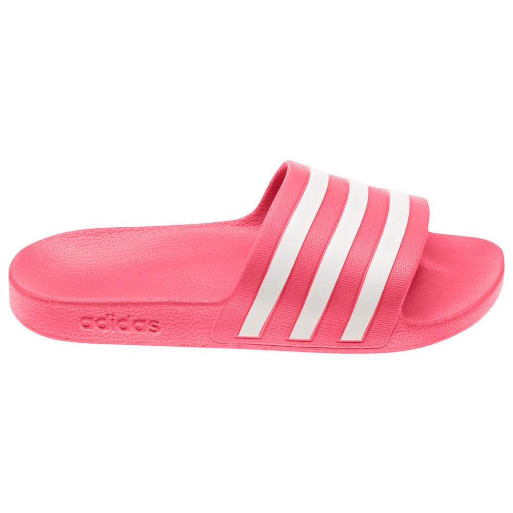 アディダス adidas レディース サンダル・ミュール シューズ・靴【Adilette Aqua Slide】Shock Red/White/Shock Red
