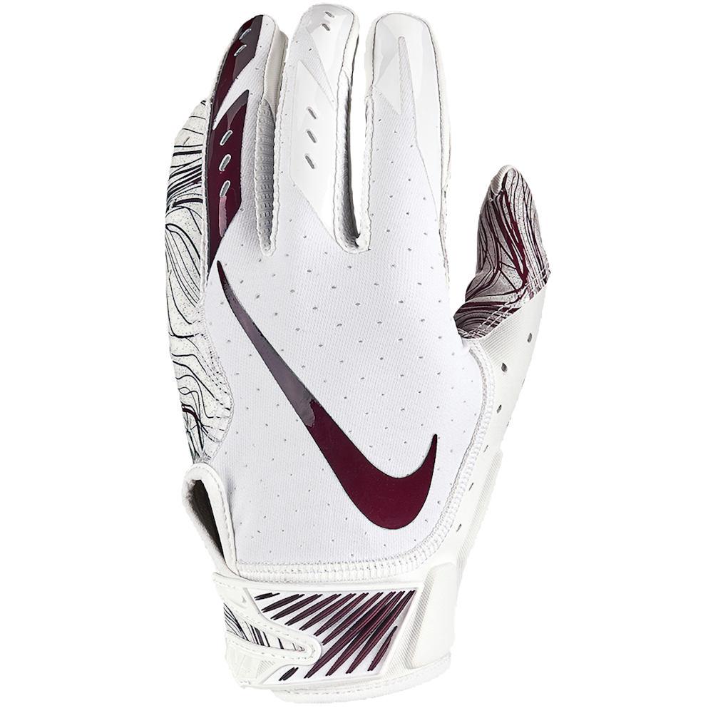 ナイキ Nike メンズ アメリカンフットボール グローブ【Vapor Jet 5.0 Football Gloves】White/White/Deep Maroon