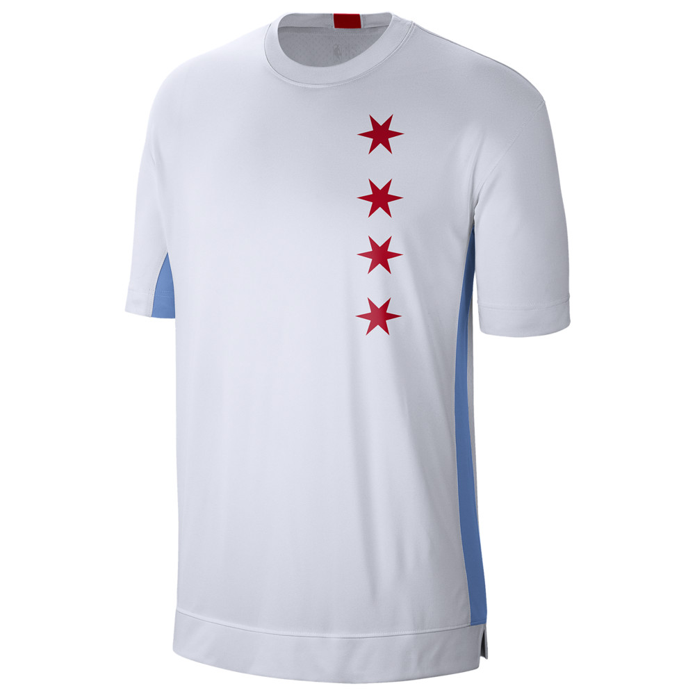 ナイキ Nike メンズ バスケットボール トップス【NBA City Edition Dry Shooting Top】NBA/Chicago Bulls/White/Valor Blue
