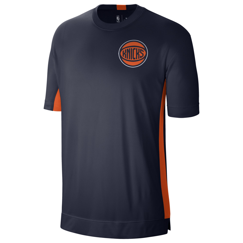 ナイキ Nike メンズ バスケットボール トップス【NBA City Edition Dry Shooting Top】NBA/New York Knicks/College Navy/Brilliant Orange