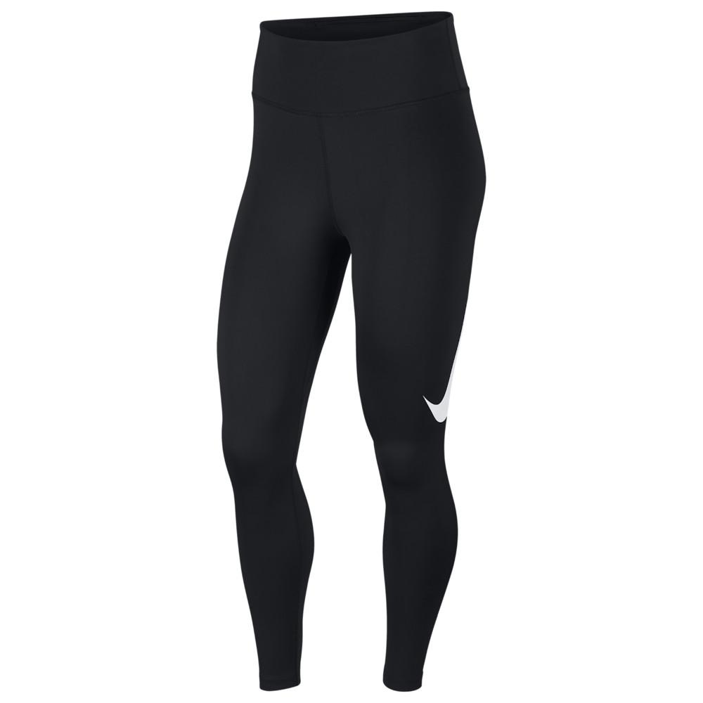 ナイキ Nike レディース フィットネス・トレーニング スパッツ・レギンス ボトムス・パンツ【7/8 Swoosh Run Tights】Black