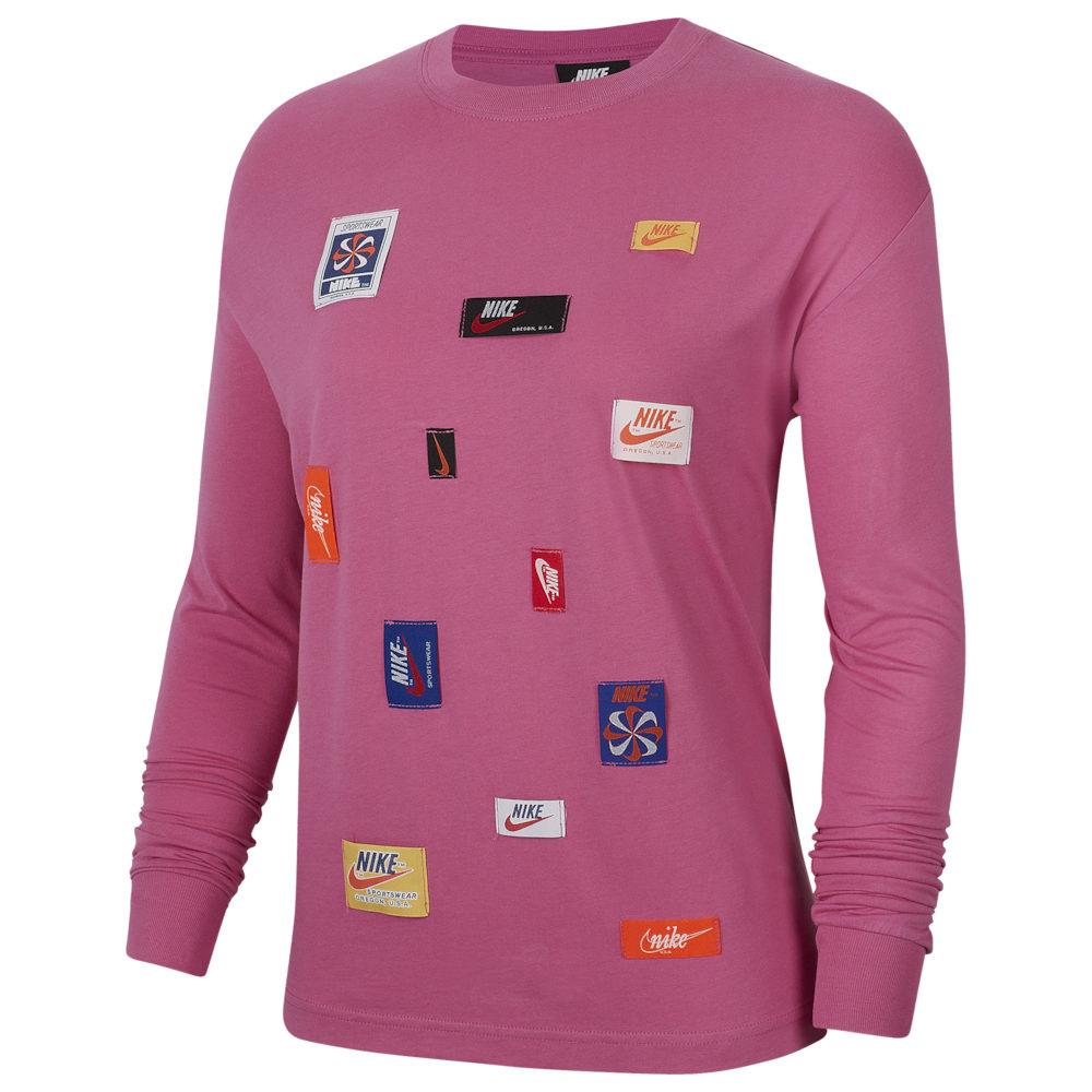 ナイキ Nike レディース 長袖Tシャツ トップス【JDIY Long Sleeve T-Shirt】Cosmic Fuschsia