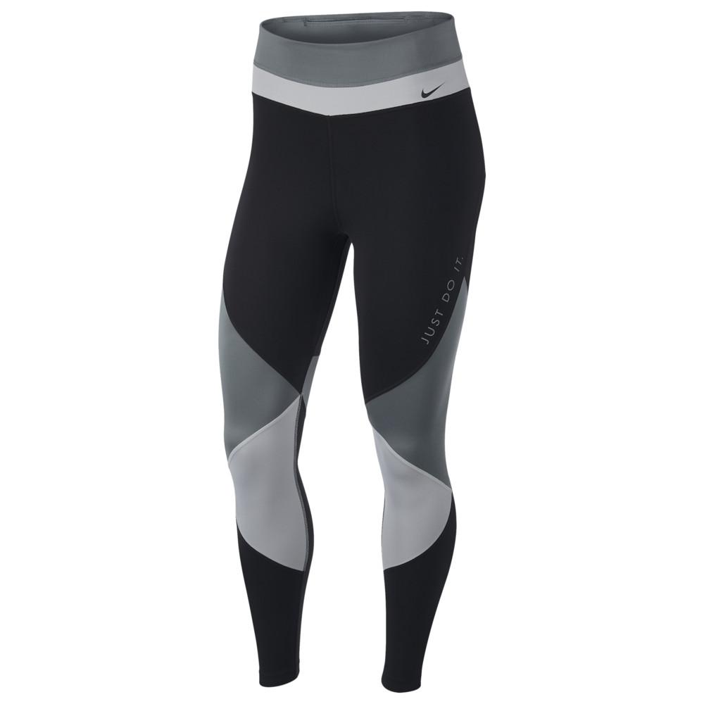 ナイキ Nike レディース フィットネス・トレーニング スパッツ・レギンス ボトムス・パンツ【One 7/8 Colorblock Tights】Smoke Grey/Black/Particle Grey/Black