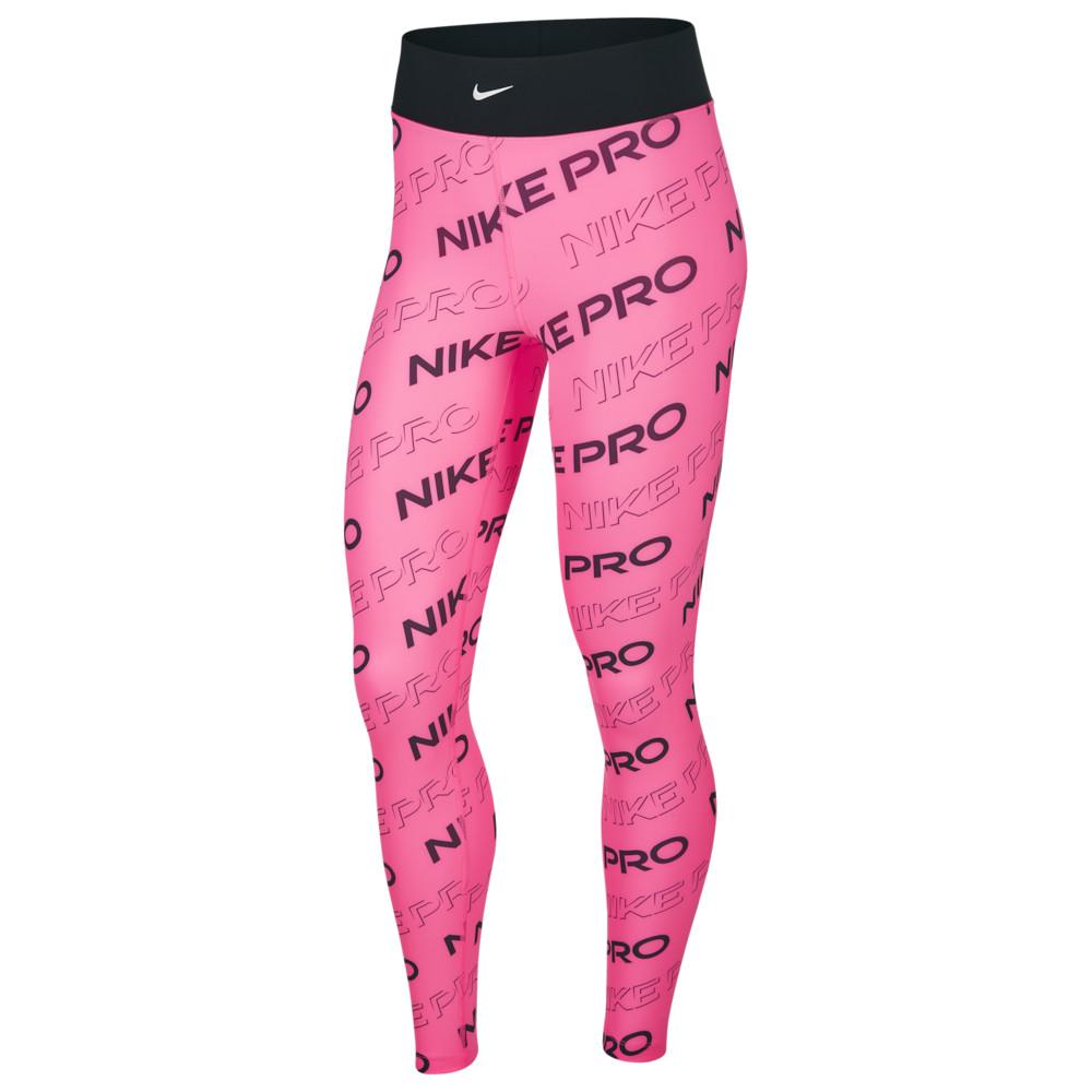 ナイキ Nike レディース フィットネス・トレーニング スパッツ・レギンス ボトムス・パンツ【Pro Print Tights】Digital Pink/Black/Metallic Silver