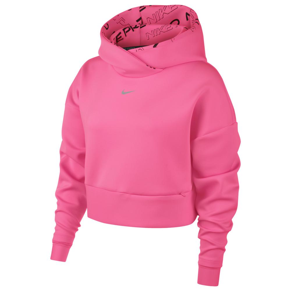ナイキ Nike レディース フィットネス・トレーニング パーカー トップス【Pro Fleece Hoodie】Digital Pink/Metallic Silver