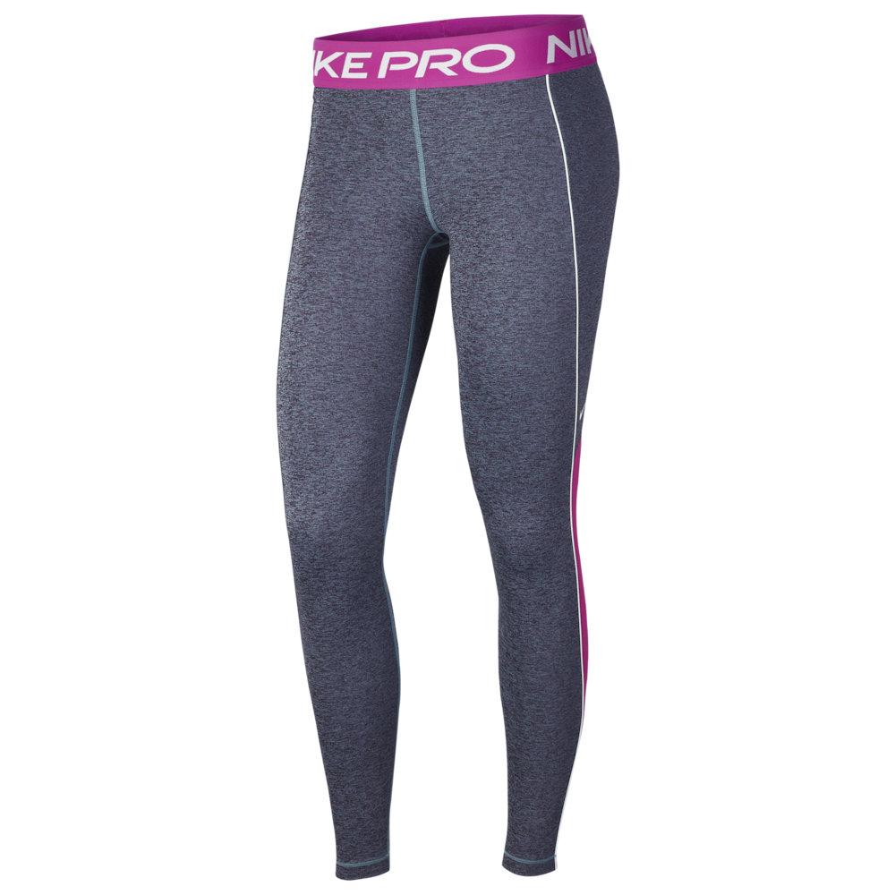 ナイキ Nike レディース フィットネス・トレーニング スパッツ・レギンス ボトムス・パンツ【Pro Space Dye Tights】Cerulean/Fire Pink/Black/White