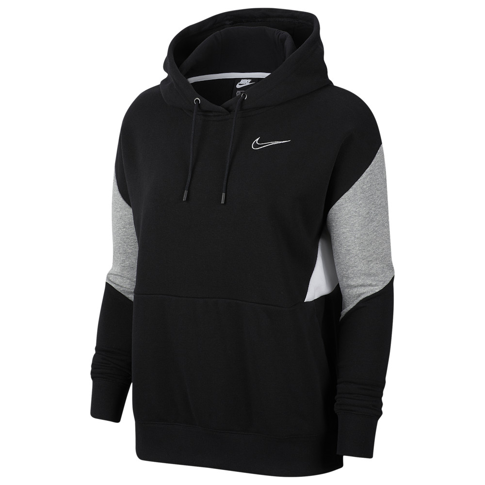 ナイキ Nike レディース パーカー トップス【90's Colorblock Hoodie】Black/Dark Grey Heather