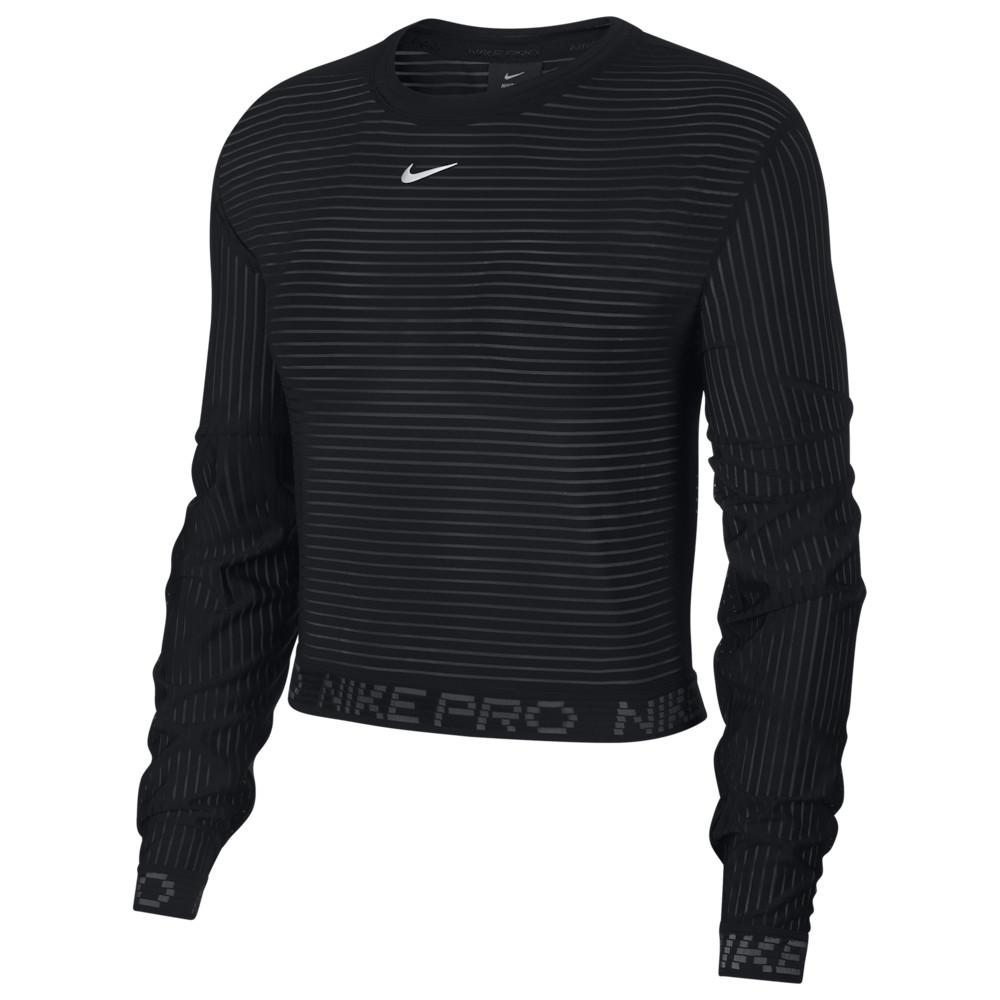 ナイキ Nike レディース フィットネス・トレーニング トップス【Pro Train Crew】Black/Metallic Silver