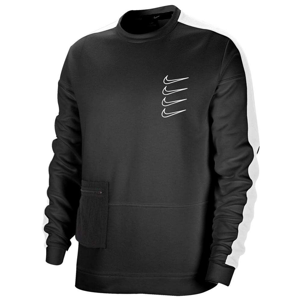 ナイキ Nike レディース フィットネス・トレーニング トップス【Long Sleeve Pullover Fleece Crew】Black/White/Black