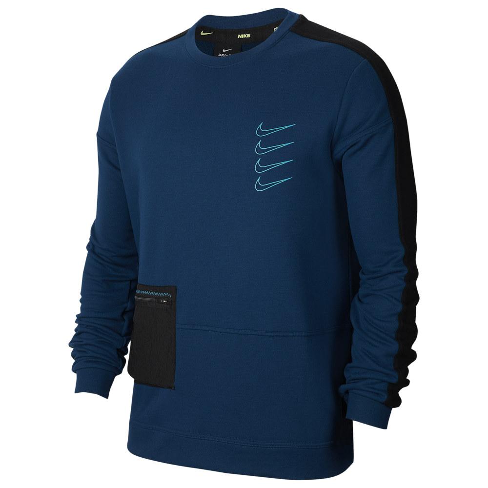 ナイキ Nike レディース フィットネス・トレーニング トップス【Long Sleeve Pullover Fleece Crew】Valerian Blue/Black/Laser Blue