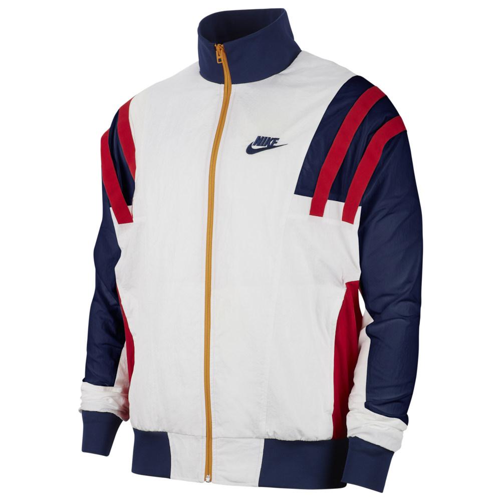 ナイキ Nike メンズ ジャージ アウター【Re-Issue Woven Jacket】White/Blue Void/University Red