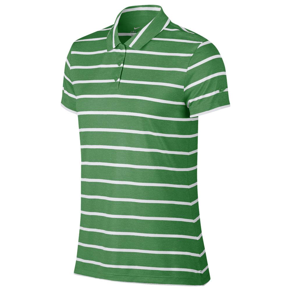 ナイキ Nike レディース ゴルフ ポロシャツ トップス【Dri-FIT Dry Stripe Golf Polo】Classic Green/White
