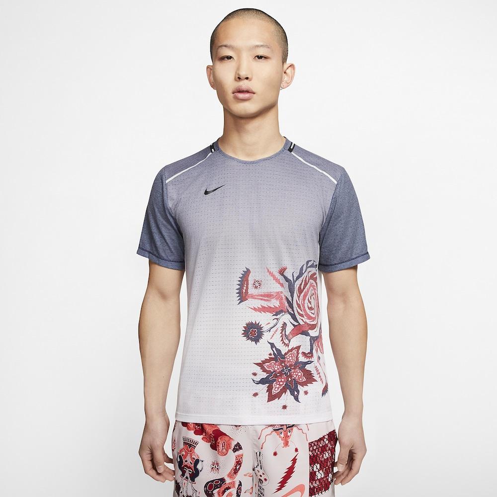 ナイキ Nike メンズ ランニング・ウォーキング Tシャツ トップス【Wild Run Rise 365 T-Shirt】Imperial Purple/Laser Crimson/Reflective Silver