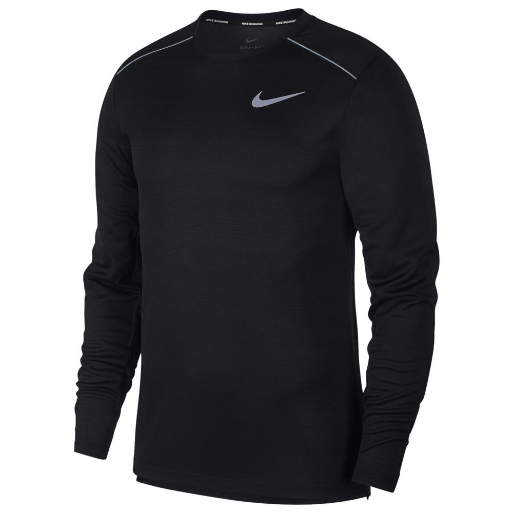 ナイキ Nike メンズ ランニング・ウォーキング トップス【Dry Miler Long Sleeve Top】Black/Black/Reflective Silver