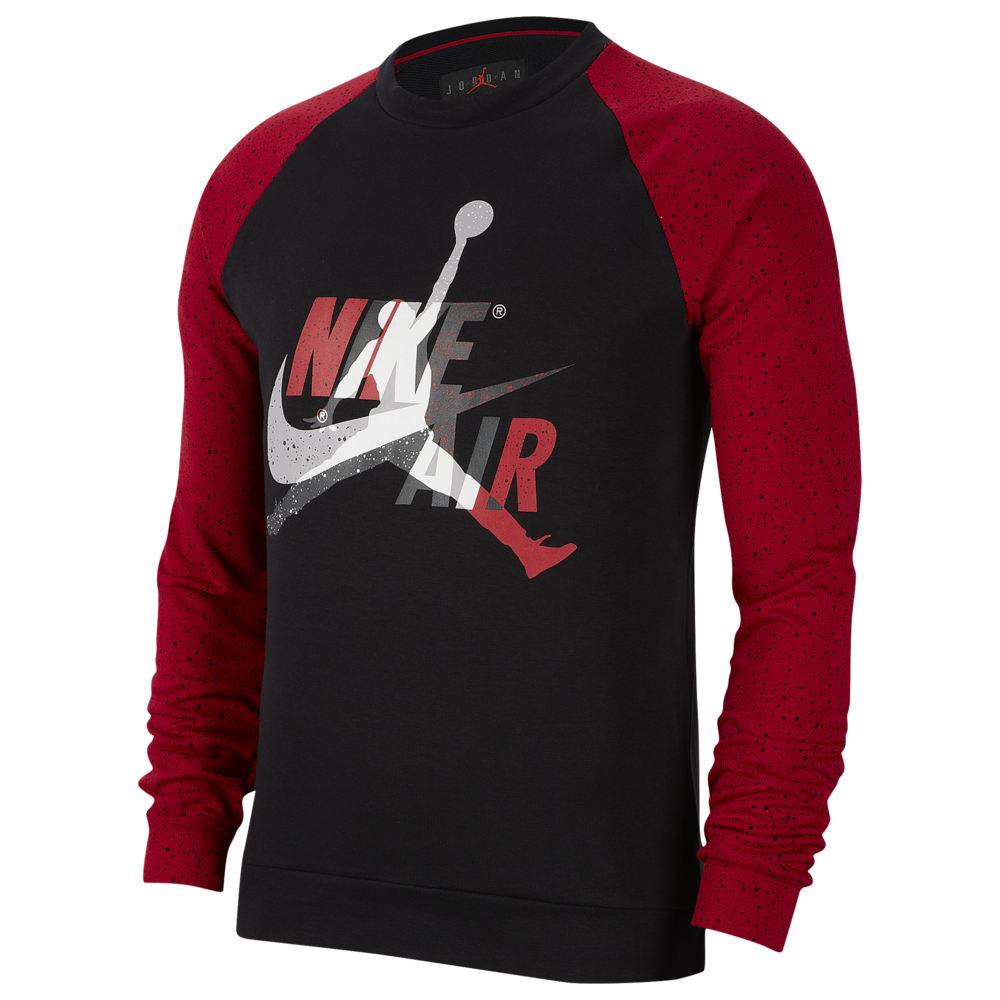 ナイキ ジョーダン Jordan メンズ フリース トップス【Jumpman Classics Fleece Crew】Black/Gym Red