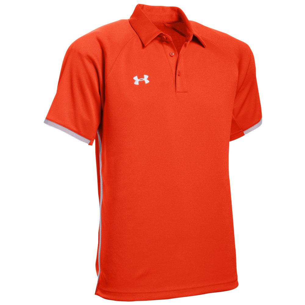 アンダーアーマー Under Armour メンズ ポロシャツ トップス【Team Rival Polo】Dark Orange/White