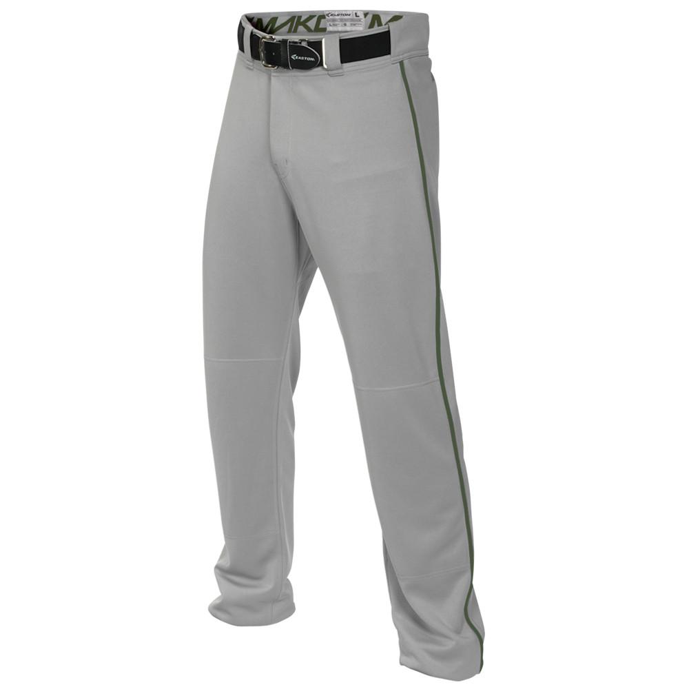 イーストン Easton メンズ 野球 ボトムス・パンツ【Mako 2 Piped Baseball Pants】Grey/Green