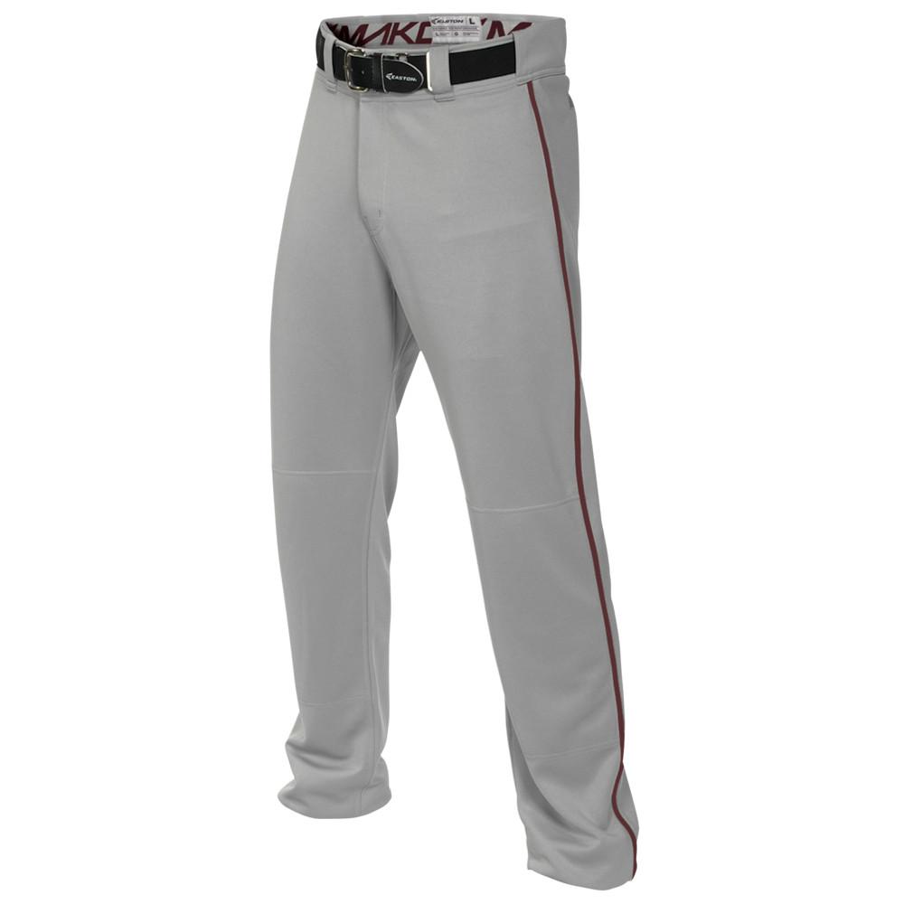 イーストン Easton メンズ 野球 ボトムス・パンツ【Mako 2 Piped Baseball Pants】Grey/Maroon