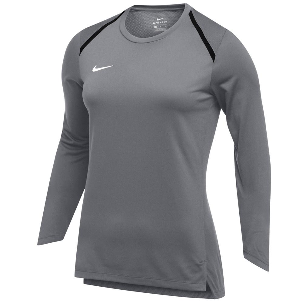 ナイキ Nike レディース 長袖Tシャツ トップス【Team Breath Elite L/S Top】Anthracite/White
