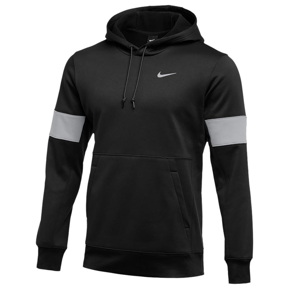 ナイキ Nike メンズ フィットネス・トレーニング パーカー トップス【Team Authentic Therma Pullover Hoodie】Black/Flat Silver/White