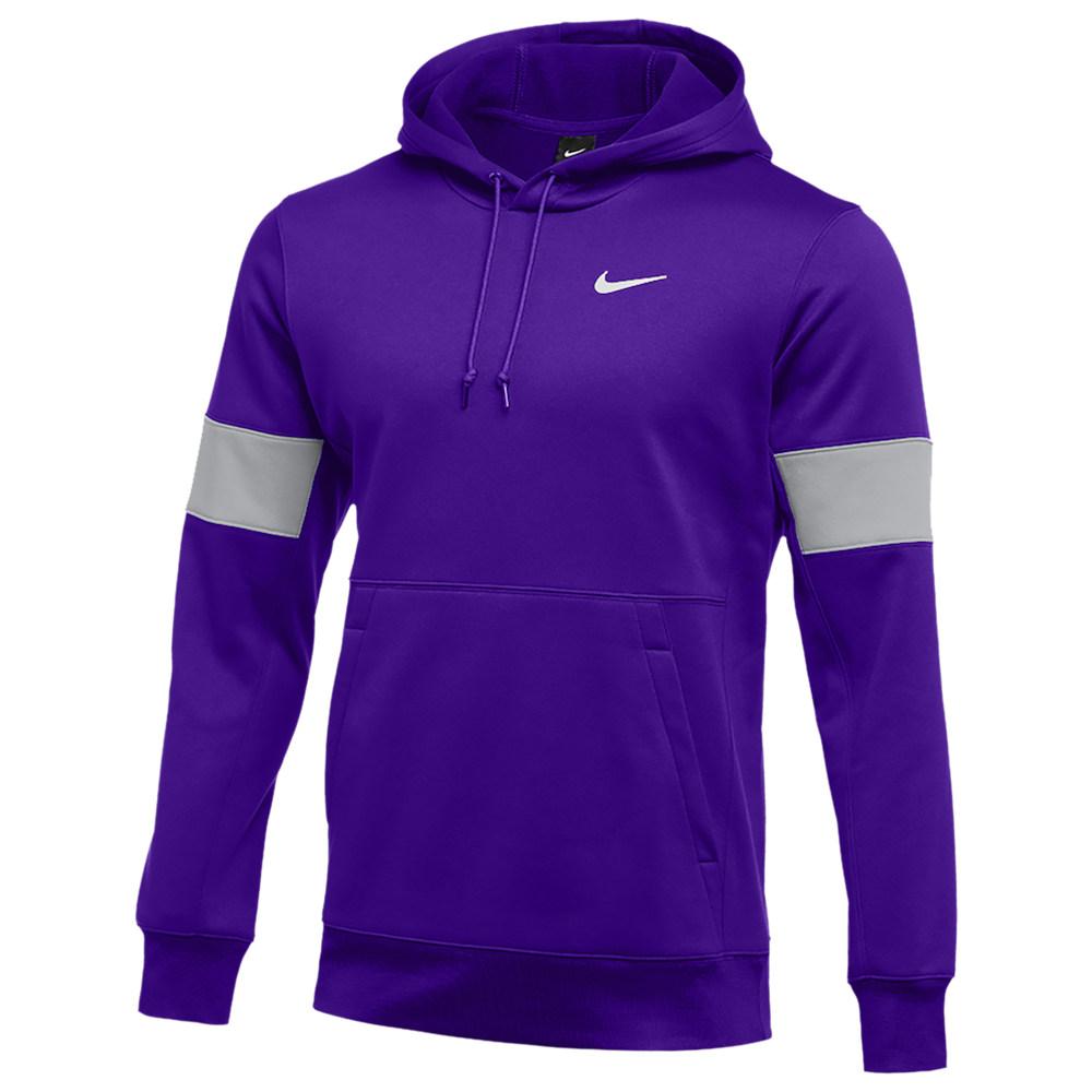 ナイキ Nike メンズ フィットネス・トレーニング パーカー トップス【Team Authentic Therma Pullover Hoodie】Court Purple/Flat Silver/White