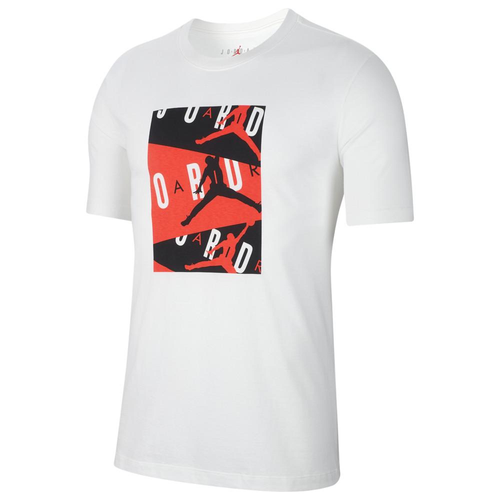 ナイキ ジョーダン Jordan メンズ バスケットボール Tシャツ トップス【Air T-Shirt】White/Infrared 23