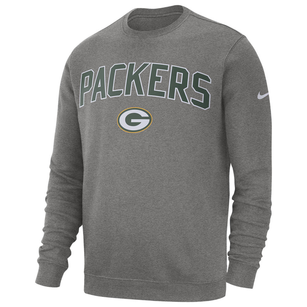 ナイキ Nike メンズ フリース トップス【NFL Club Fleece Crew Pullover】NFL/Green Bay Packers/Dark Grey Heather