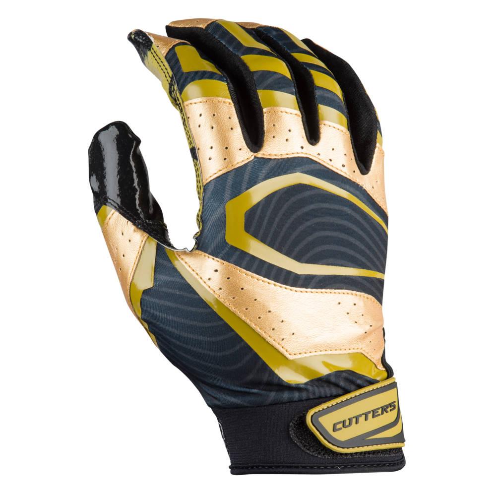 カッターズ Cutters メンズ アメリカンフットボール レシーバーグローブ グローブ【Rev Pro 3.0 Metallic Receiver Gloves】Black/Metallic Gold